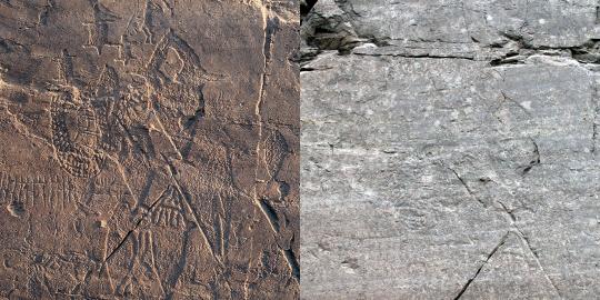 그림 (1) 부분 : 우리와 고래(왼쪽이 과거, 오른쪽이 현재 사진)