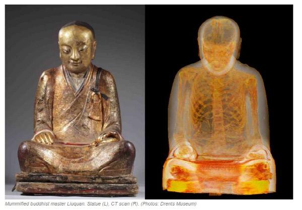 1000년 된 불상 내부에서 발견된 미라···어떤 모습?