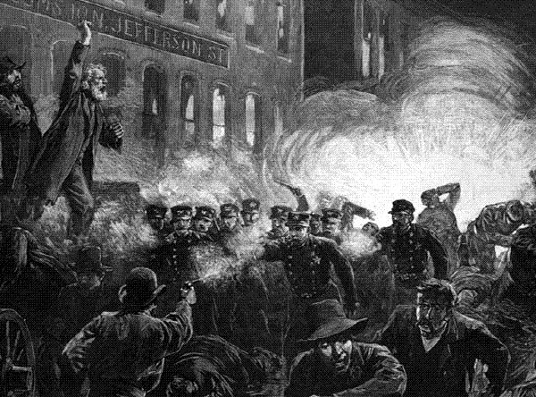 1886년 시카고 헤이마켓 반란은 미국 노동운동과 사회주의를 얘기할 때 자주 등장하는 사건이다. 노동자들이 8시간 노동 등을 요구하며 평화시위를 벌이던 중 한 과격한 시위대가 던진 다이너마이트가 폭발하며 경찰과 시위대가 여럿 사망했다. 19세기 후반 미국 노동운동을 이끈 노동기사단(Knights of Labor)이 세력을 확대해가던 중 터진 이 사건으로 사회주의 운동이 크게 위축됐다.