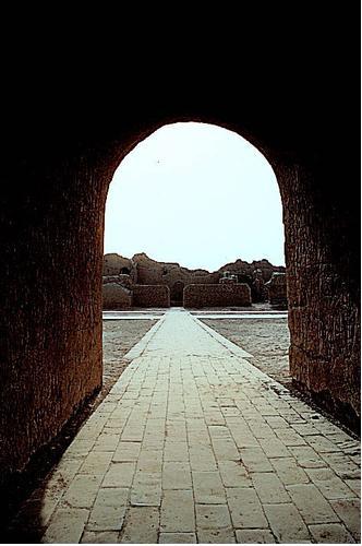 실크로드상의 투루판에 있는 가우창 왕국의 유산인 '가우창 고성'.