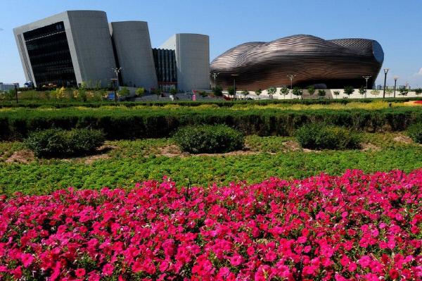 오르도스 박물관과 도서관. 사진 AFP
