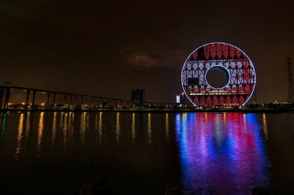 광저우서클의 야경. 사진 BBC