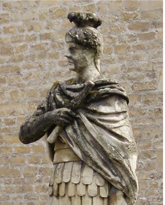 잉글랜드와 스코틀랜드,  웨일스를 정복한 로마 장군  아그리콜라의 동상.