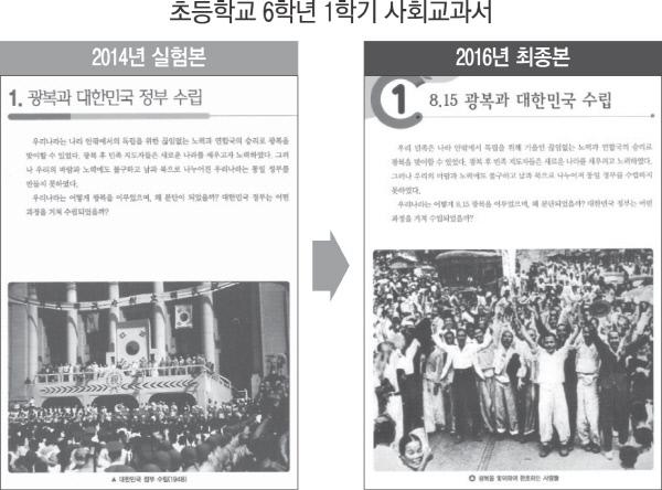 '임시정부 계승 상징 사진' 초등 국정 사회교과서에서 뺐다