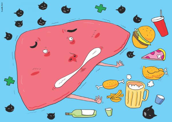 바이러스·지방간·과음의 '간염 3중주'