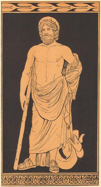 부의 신 플루토스. 강력한 힘을 가진 플루토스는 제우스에 의해 눈이 먼다.