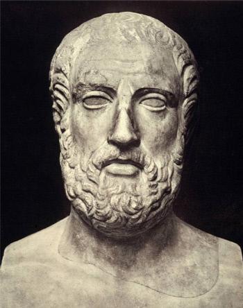 코메디아의 아버지아리스토파네스(기원전 446~385).