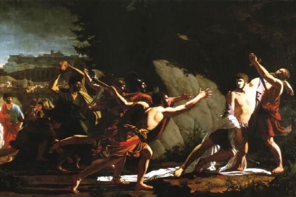 프랑수와 토피노-레브룬의 '가이우스 그라쿠스의 죽음'(1792). 동생 그라쿠스는 형의 뒤를 이어 개혁법안을 추진하다가 보수파에 의해 살해됐고, 결국 로마 공화정은 붕괴했다.