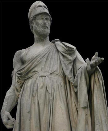 페리클레스의 조각상.