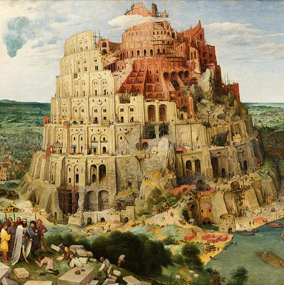 피터르 브뤼헐(1525~1569)의 <바벨탑>(1563). 114×155㎝의 대작이다.