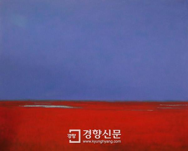정부서울청사 갤러리에서 열리고 있는 김일권 초대전 'Peaceful Heaven 순천'에 나온 작품 '2016.10.29'. 167×131㎝, 캔버스에 오일.