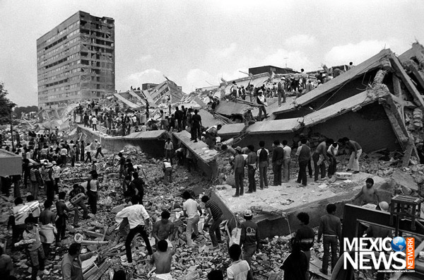 1985년 멕시코 수도 멕시코시티를 초토화시킨 규모 8.2 지진 당시 모습. 멕시코뉴스네트워크