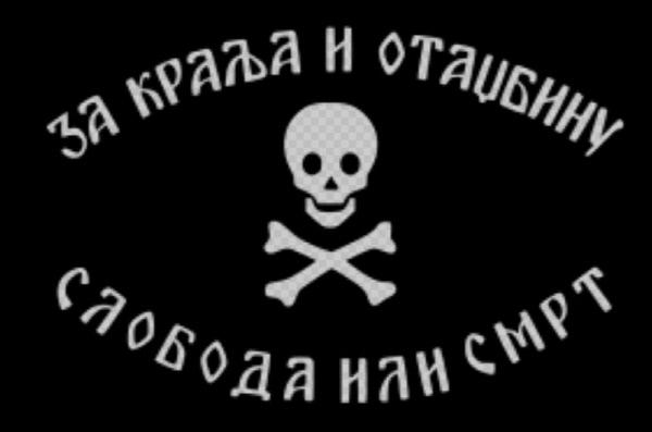2차대전 중 크로아티아인들을 테러공격했던 세르비아인들의 무장단체 체트니크의 상징.