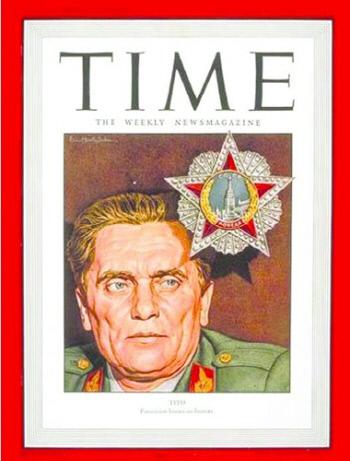 1946년 9월16일자 미국 시사주간 타임의 표지인물로 등장한 요시프 티토. 1990년대 보스니아에선 티토와 같은 '통합의 상징'이 '증오의 상징'으로 대체됐다.