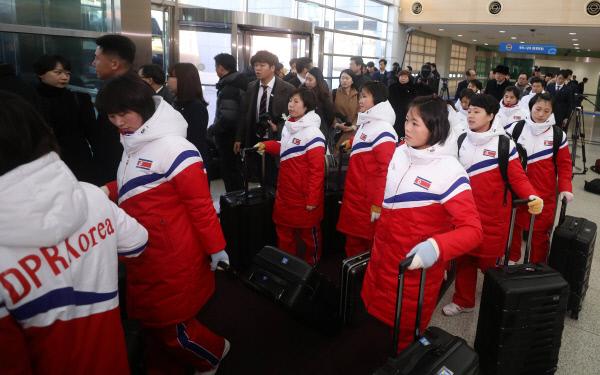 방남한 북한 여자 아이스하키 선수단 명단 ..