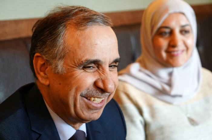 주한 요르단 대사 아델 아다일레와 대사 부인 이만 알도무어.