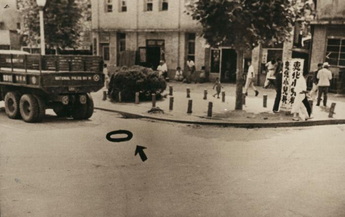 일본인 총독들로부터도 대통령감이라는 평가를 받아온 여운형은 여러 차례 테러와 살해 위협을 당해오다가 1947년 7월19일 서울 혜화동 로터리에서 결국 암살당했다. 여운형이 암살당한 자리에 동그라미 표시가 돼 있다. 경향신문 자료사진