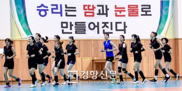 [경향포토]김연경과 배구 대표팀 아시안게임 앞두고 훈련