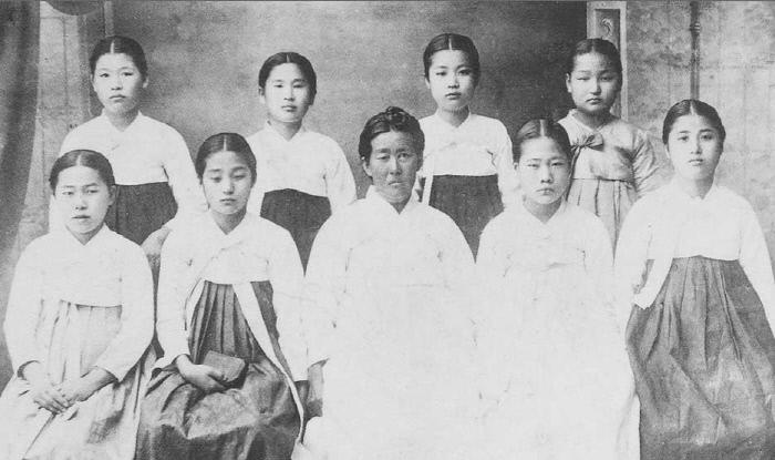 1919년 3월10일 만세시위에 나섰던 광주 수피아여학교 학생들.  대한민국역사문화원 제공