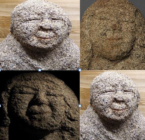 립스틱 바른 나한상들. 1994년 전남 나주 불회사 인근에서 출토된 나한상에서도 립스틱 나한상들이 일부 확인된 바 있다. |국립춘천박물관 제공