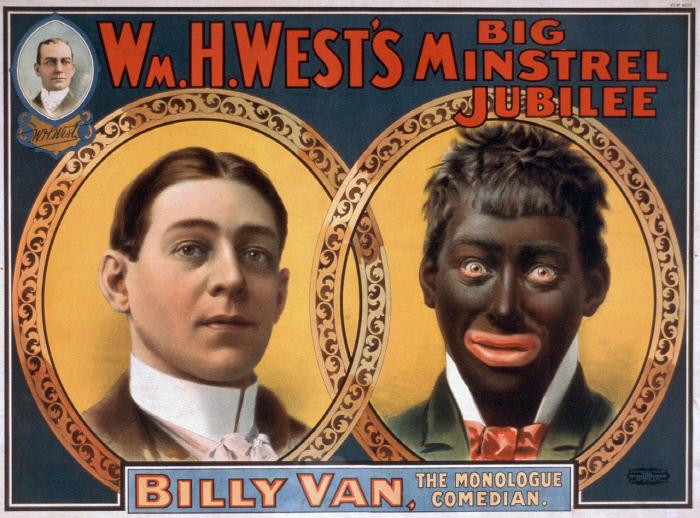 1900년 윌리엄 웨스트의 민스트럴쇼 포스터..