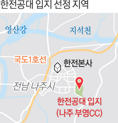 한전공대 부지 '나주시 부영골프장' 확정