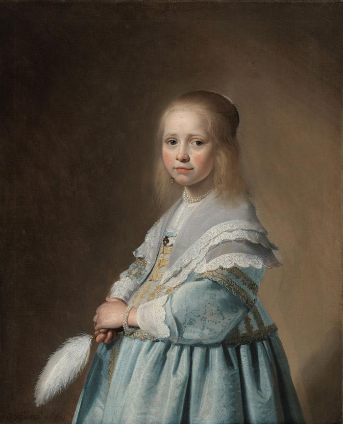 Johannes Cornelisz Verspronck, Portrait of a Girl Dressed in Blue, 1641. / 라익스미술관 소장
