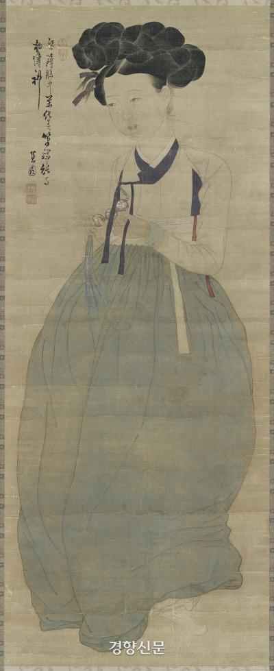 혜원 신윤복의 '미인도'. 알듯모를듯 지은 미소가 신비롭다. |간송미술문화재단 소장