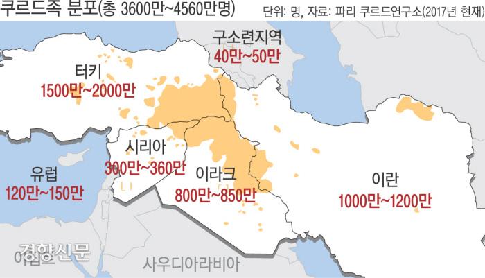 쿠르드족 거주지역. 경향신문 자료사진