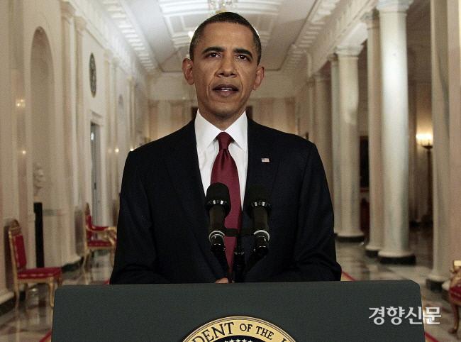 باراک اوباما ، رئیس جمهور آمریکا ، از ترور اسامه بن لادن در کاخ سفید در واشنگتن در تاریخ 2 مه 2011 خبر داد یونهاپ نیوز