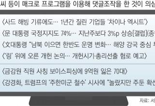 [드루킹 사건]'매크로 정황' 6건 추가…정치·경제·사회 기사 망라