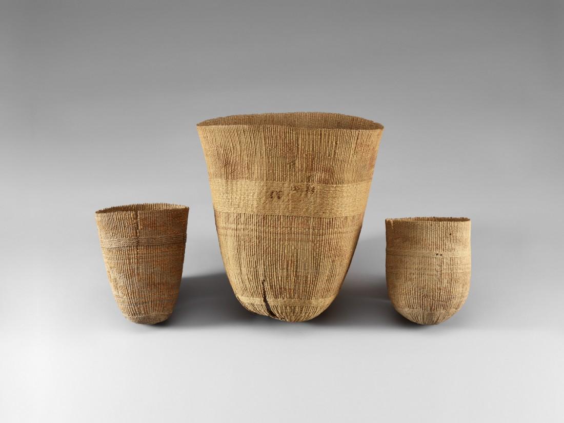 기원전 17~15세기 유적인 로프노르에서 출토된 바구니. |국립중앙박물관 제공