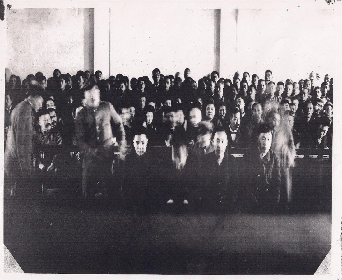 재판에 참석한 안중근(맨오른쪽)과 우덕순·조도선·유동하 선생.  안중근의사기념관 제공