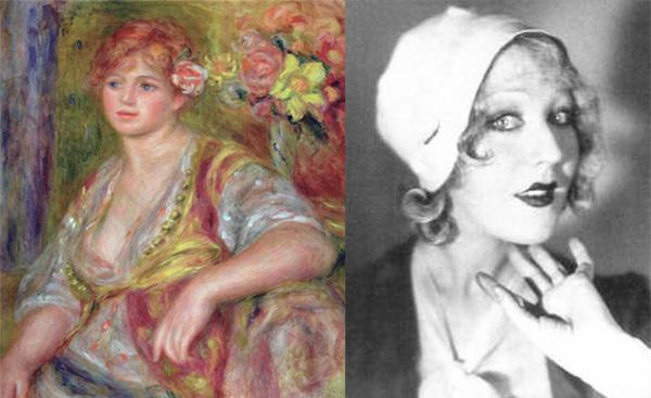 <장미꽃을 꽂은 금발여인>(1915~1917), 65x54cm, 캔버스에 유화. ⓒ Musee de l