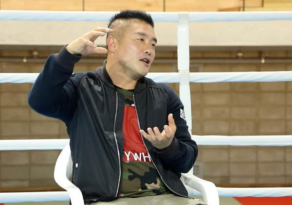 김정주 국가대표 남자복싱 코치가 한국 복싱에 대한 생각을 밝히고 있다.
