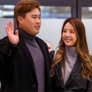 배지현, 남편 류현진을 향해 꿀 떨어지는 시선