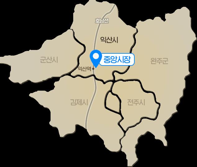 전북 익산 지도