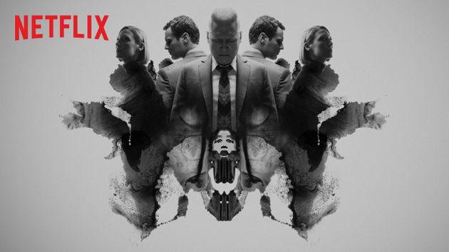 Netflix 드라마 Mind Hunter의 포스터에 사용 된 Rorschach 카드