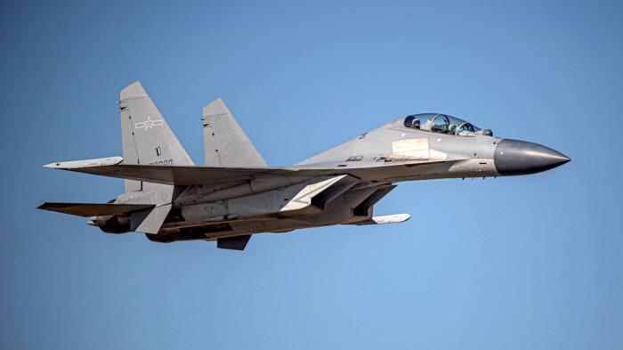 중국 J-16 전투기. 대만 국방부 홈페이지 캡쳐